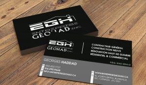 Carte d'affaire - Entreprise GeoHad