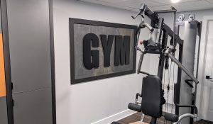 enseigne 3D intérieur gym