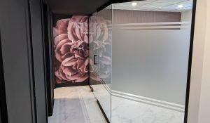 murale autocollante fleur